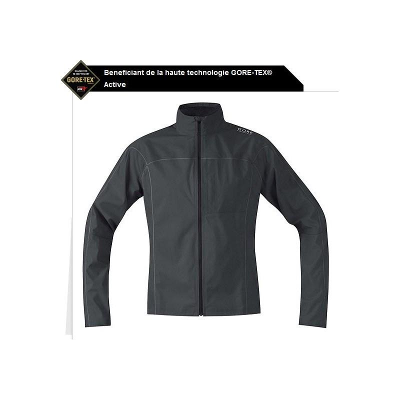 Veste imperméable Gore-tex Essential GT AS homme noir
