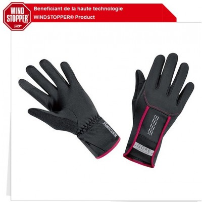 Gants Gore Windstopper Air Lady femme noir rose