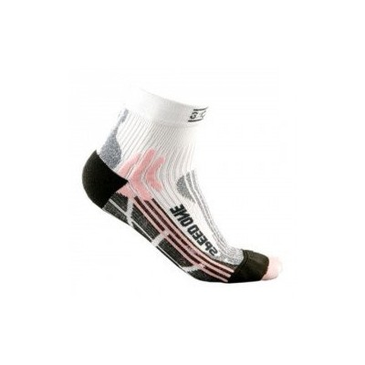 Chaussettes X-SOCKS Speed One femme blanche rose