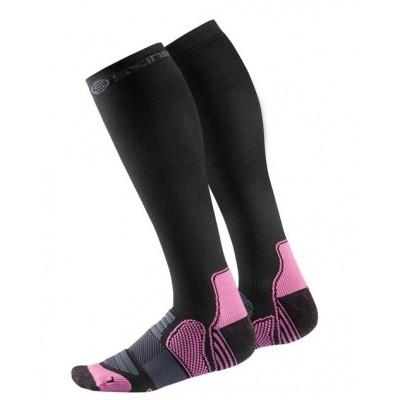 Chausettes de compression active SKINS femme noires/roses