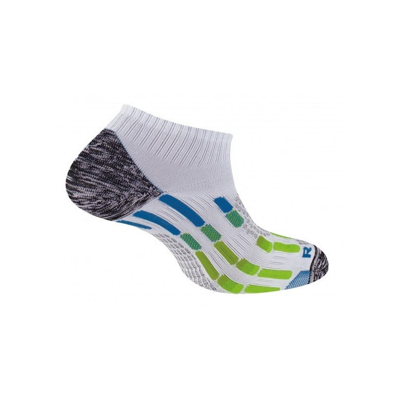 Chaussettes THYO invisible pody air blanche/bleue