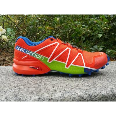 PE18 Speedcross 4 homme orange/bleu/vert