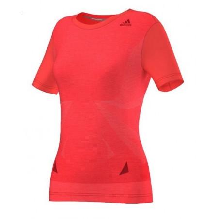 Tee shirt ADIDAS supernova femme rouge