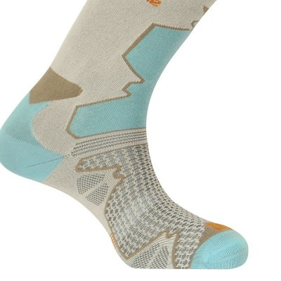 Chaussettes THYO Double trek turquoises