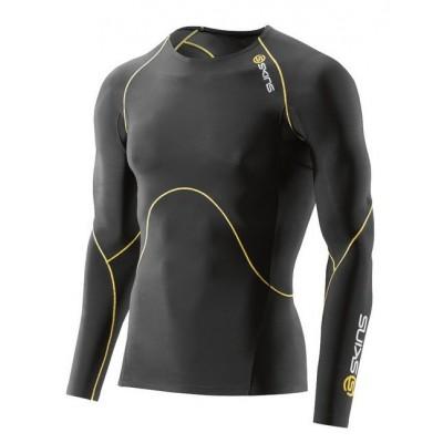 Haut ML compression SKINS A400 homme noir/jaune