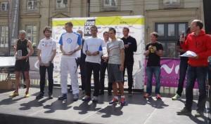 Lyon Urban Trail 2014 - Podium avec Baronian et Spehler