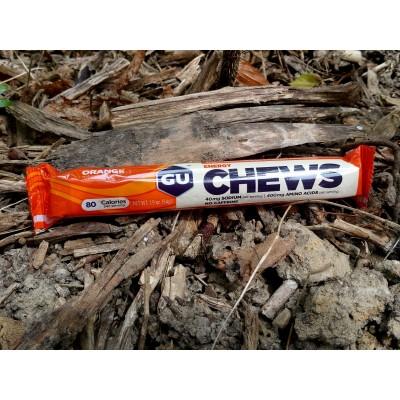 GU Chews 8 Gommes orange