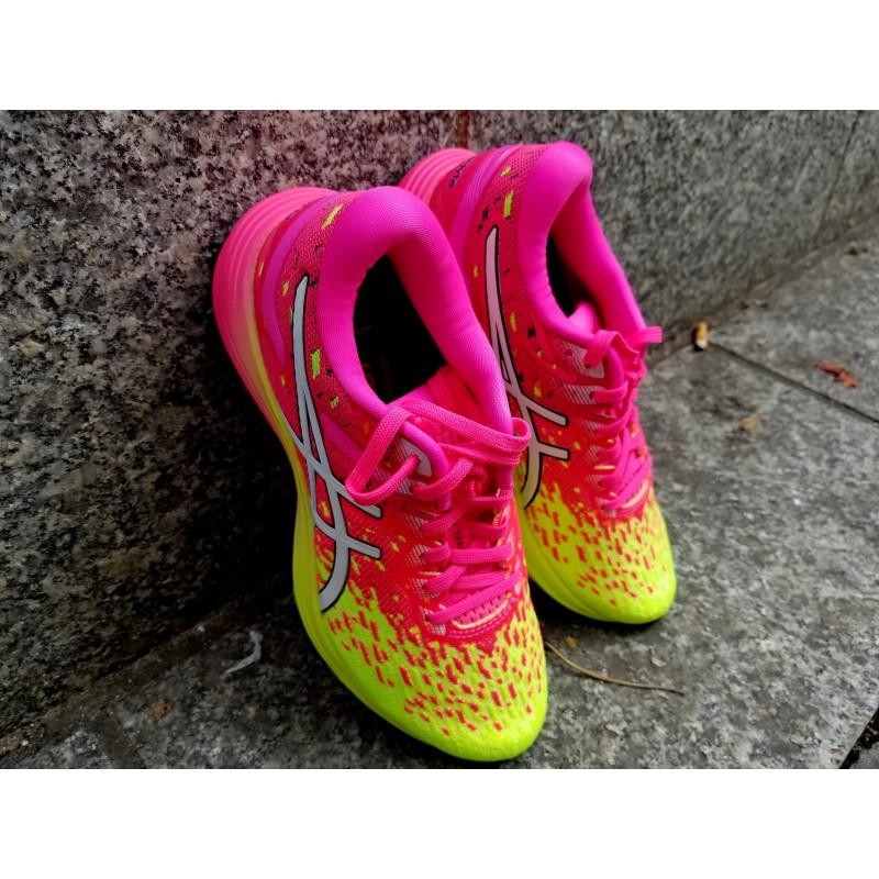 ASICS DynaFlyte 4 Femme hot pink / fluo yellow