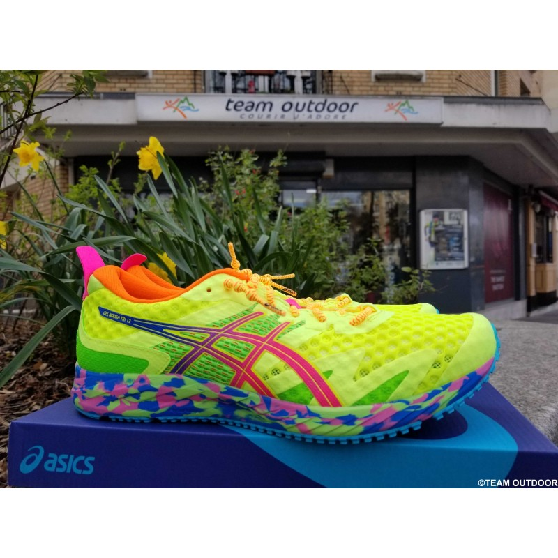 ASICS Gel Noosa Tri 12 Homme safety yellow / hot pink