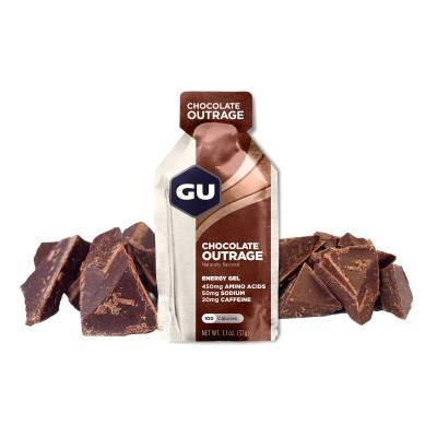 GU Gel Energy chocolat outrage