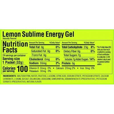 GU Gel Energy lemon sublime